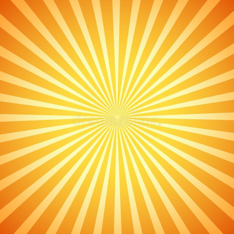 VektorRetro- Sonnendurchbruch lizenzfreie abbildung
