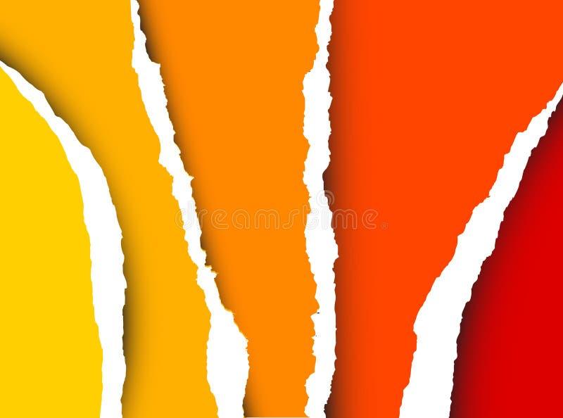 Vektorrißpapier - abstrakter Hintergrund vektor abbildung