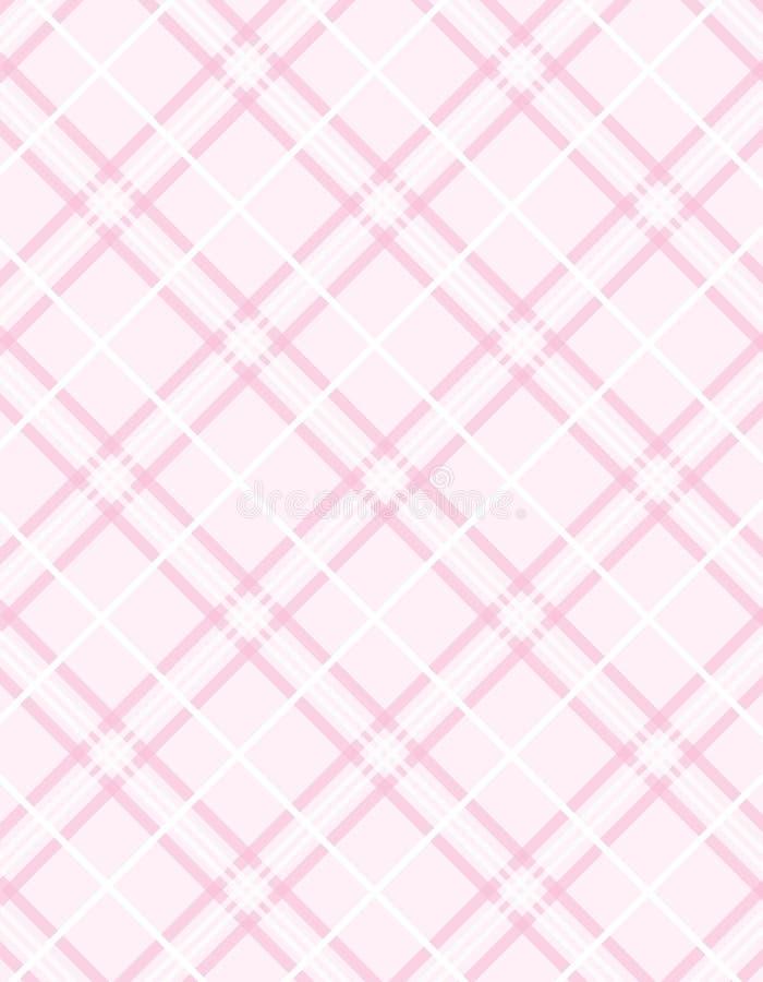 Vektorrosafarbener Plaid-Hintergrund lizenzfreie abbildung