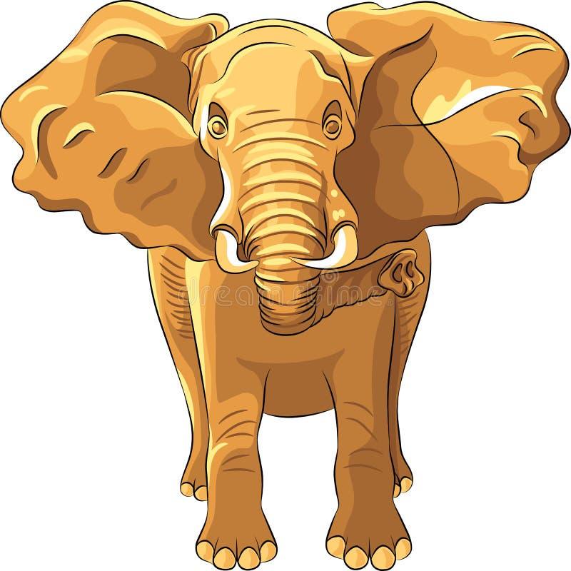 vektorroter afrikanischer Elefant vektor abbildung