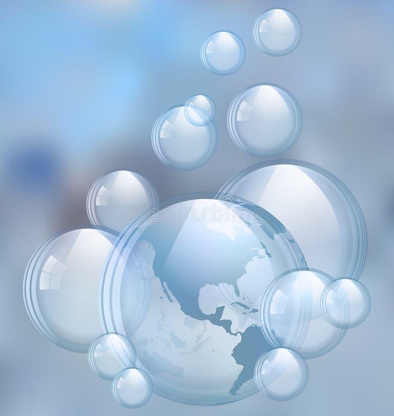 Vektorsåpbubblor arkivbilder