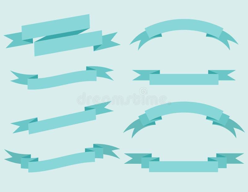 Vektorsatz Bänder stockfoto