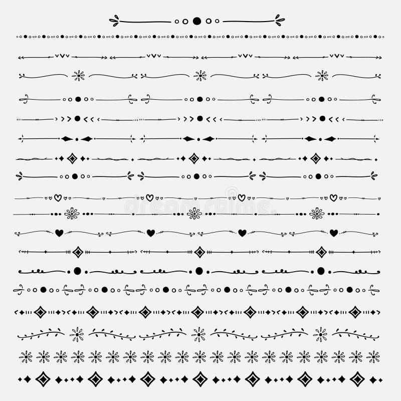 Vektorsatz der Linie Hand gezeichnete Beschaffenheiten stock abbildung