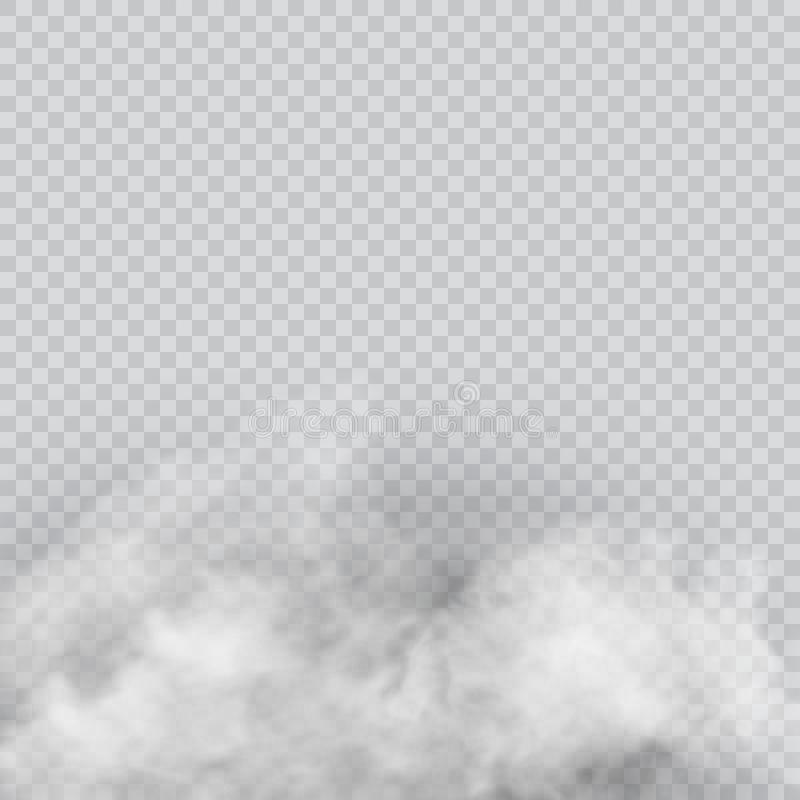 Vektorsatz der realistischen lokalisierten Wolke auf dem transparenten Hintergrund vektor abbildung