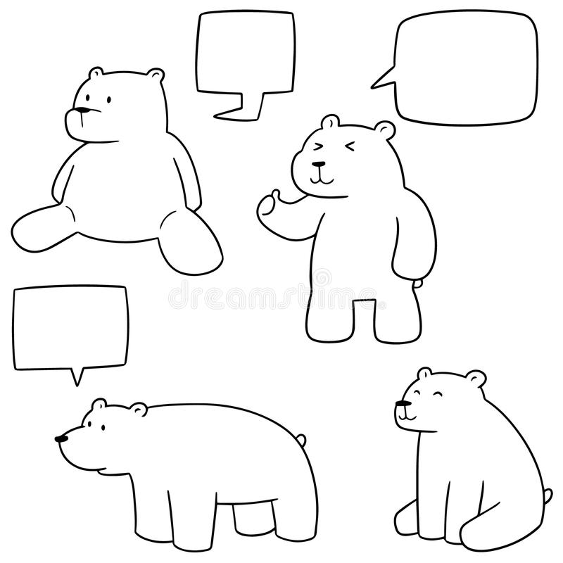 Vektorsatz des Eisbären lizenzfreie abbildung