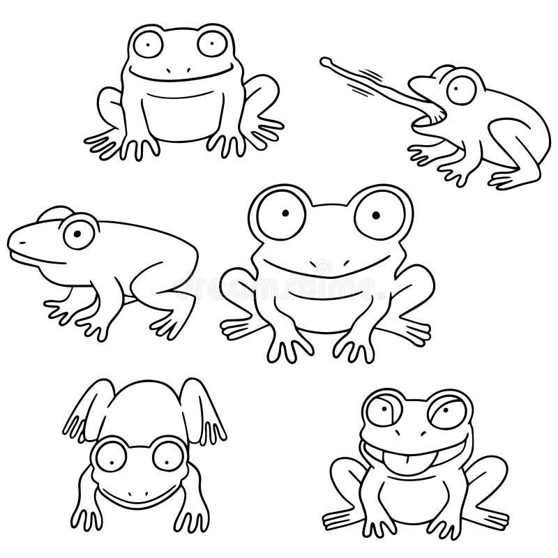 Vektorsatz des Frosches lizenzfreie abbildung