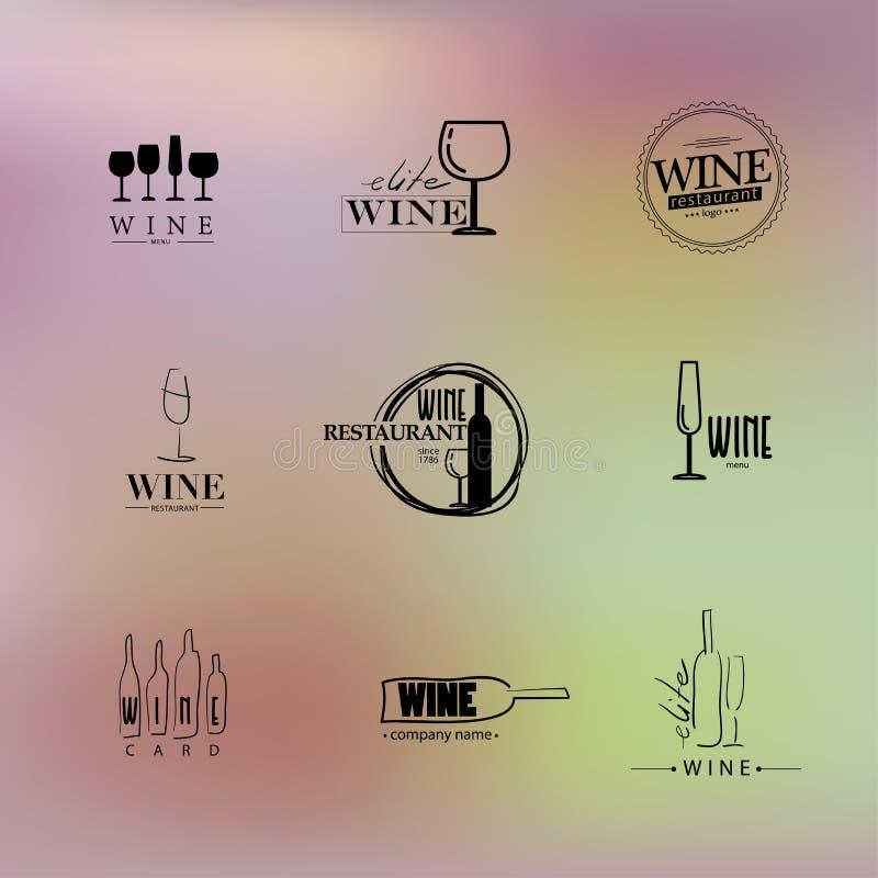 Vektorsatz des Weinlogos vektor abbildung