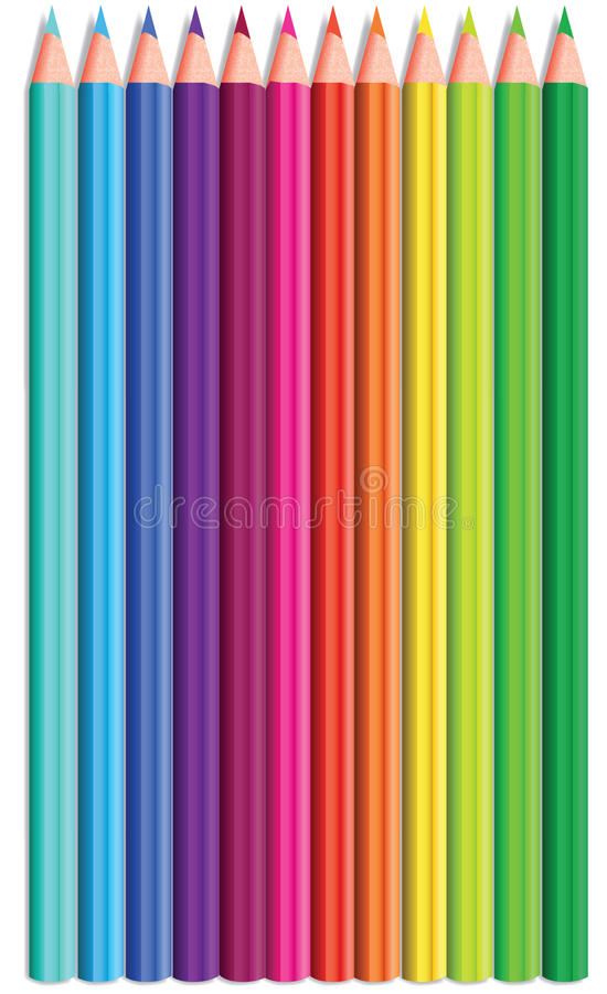 Vektorsatz farbige Bleistifte lizenzfreie abbildung