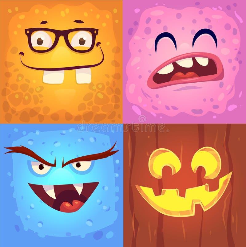 Vektorsatz Halloween-Ausweise lizenzfreie abbildung