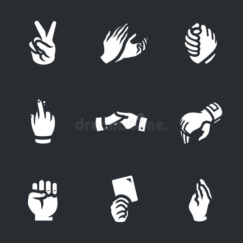 Vektorsatz Handzeichenikonen vektor abbildung