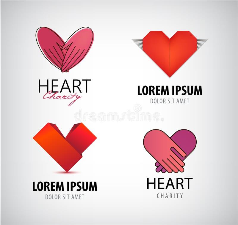 Vektorsatz Herzlogos, Nächstenliebe lizenzfreie abbildung