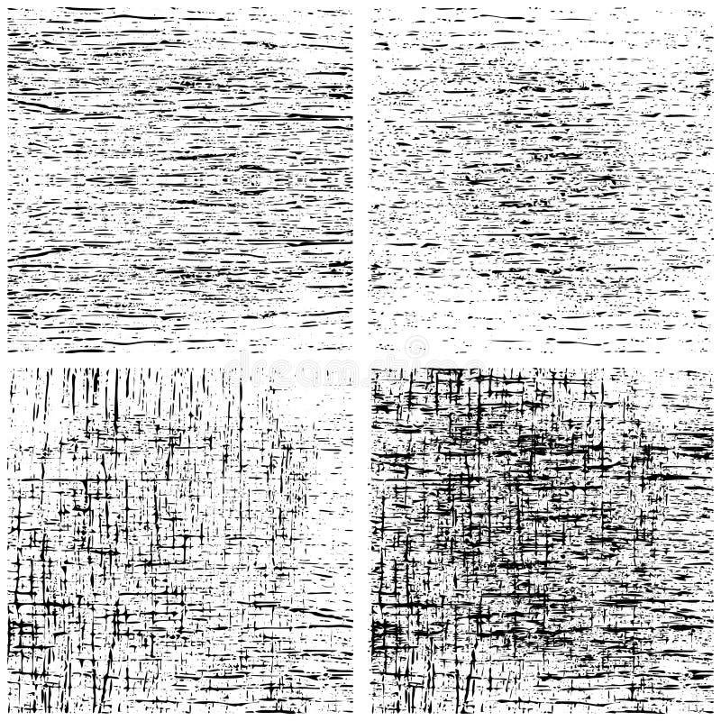 Vektorsatz Schmutz beunruhigte Beschaffenheit Schablonenhintergrund vektor abbildung