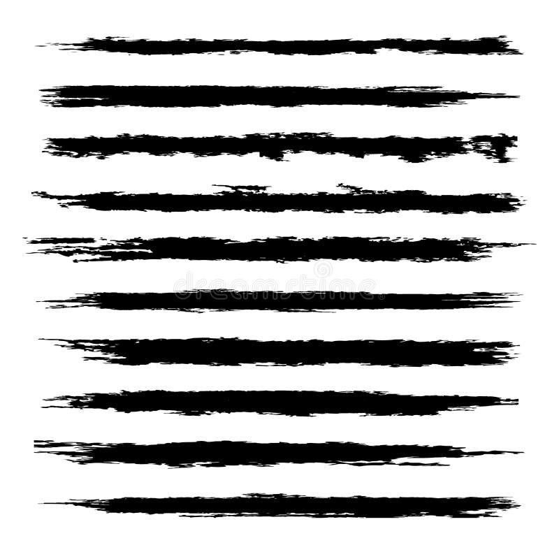 Vektorsatz schwarze Bürsten vektor abbildung