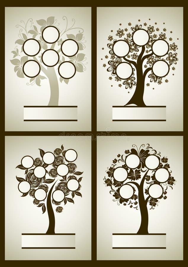 Vektorsatz Stammbaumdesigne vektor abbildung