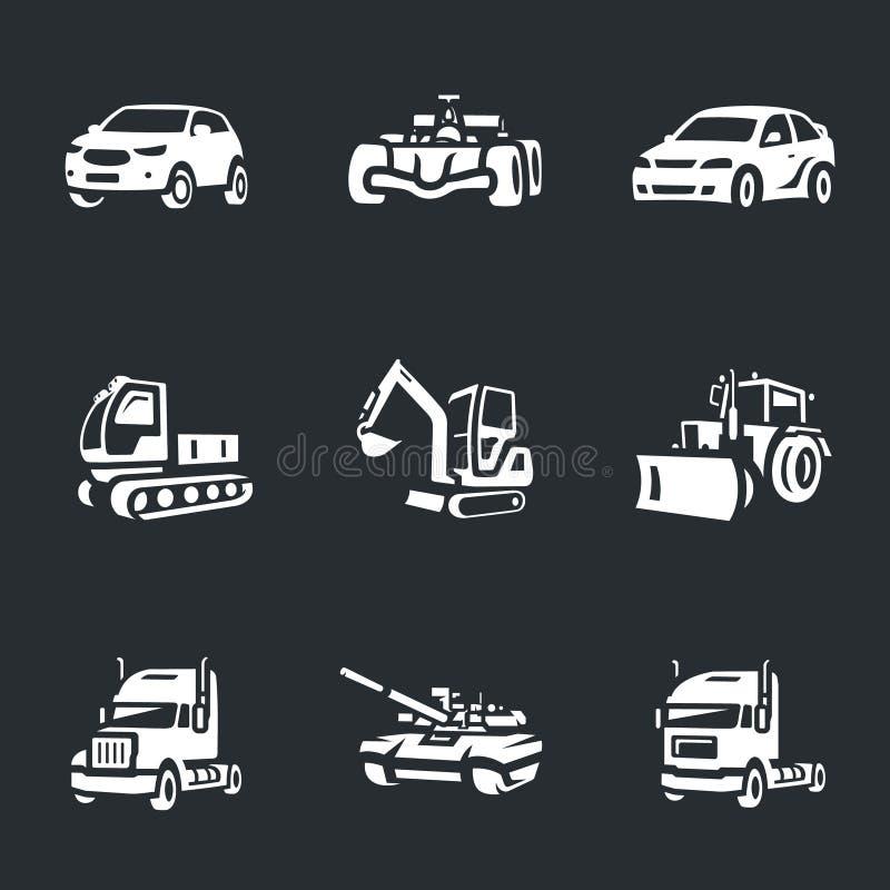 Vektorsatz Transportikonen lizenzfreie abbildung