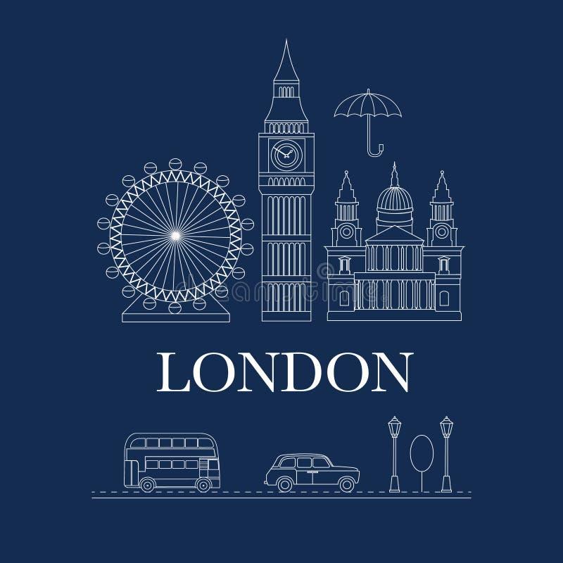 Vektorsatz von London lizenzfreie abbildung