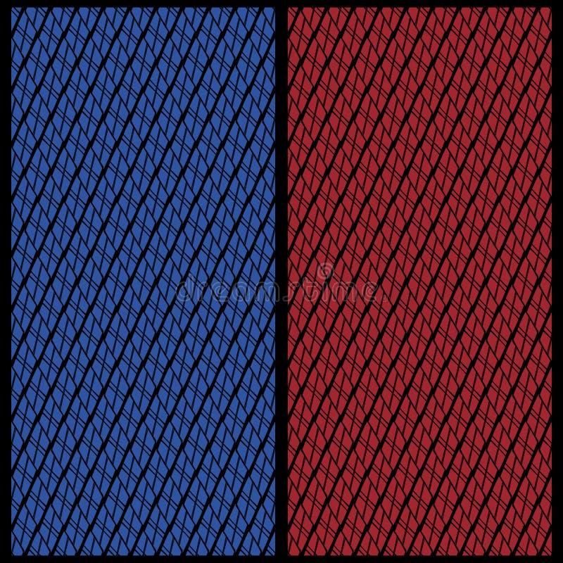 Vektorsatz von zwei Hintergründen für die Rückseite von Spielkarten stock abbildung