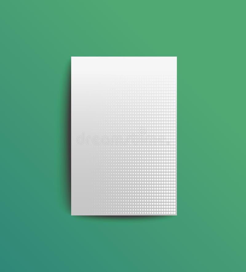Vektorschablone der Abdeckung mit Retro- Halbton lizenzfreies stockbild