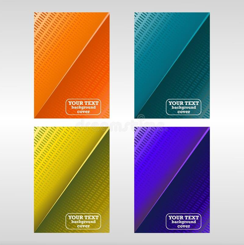 Vektorschablone für Broschüre oder Abdeckung mit abstrakten Elementen stock abbildung