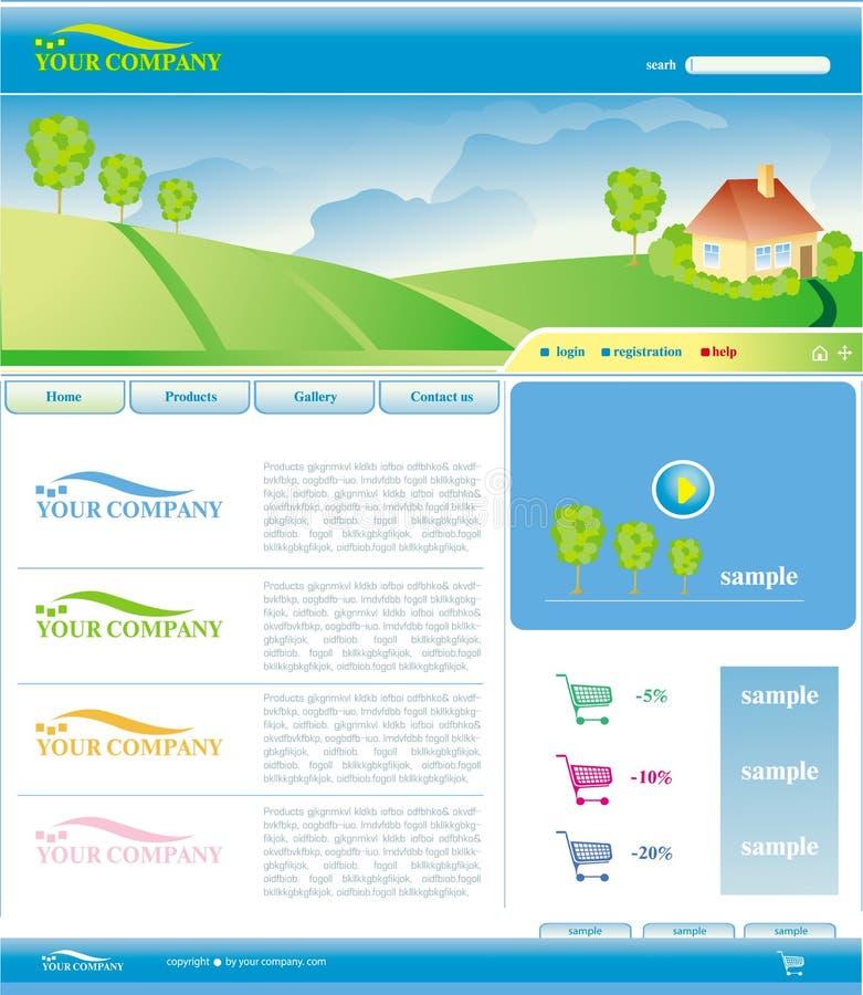 Vektorschablone von Web site vektor abbildung