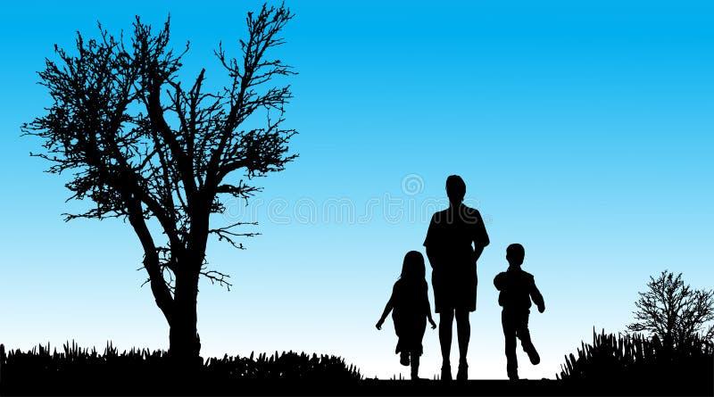 Download Vektorschattenbild Der Familie Vektor Abbildung - Illustration von kinder, bruder: 47101385