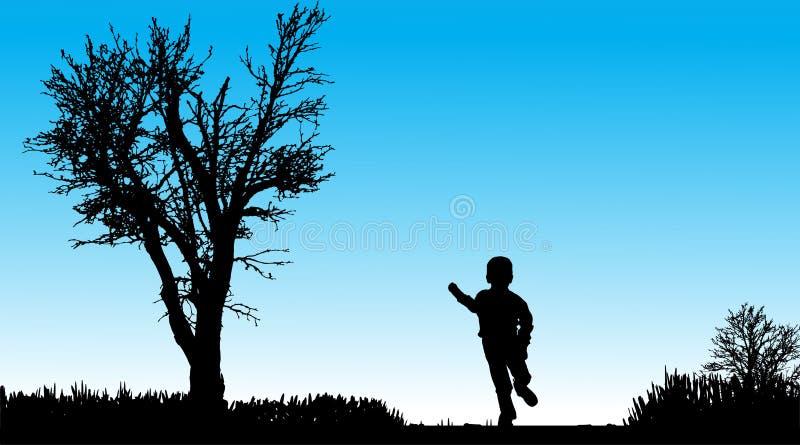 Download Vektorschattenbild Des Kindes Vektor Abbildung - Illustration von läufer, aktiv: 47101146