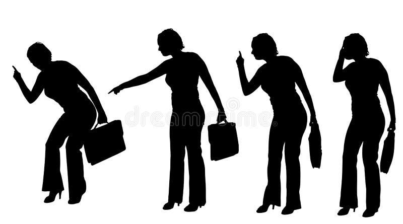 Vektorschattenbild einer Geschäftsfrau vektor abbildung
