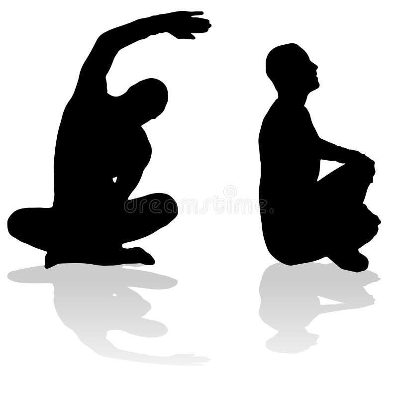 Download Vektorschattenbild Eines Mannes Vektor Abbildung - Illustration von aktiv, schattenbild: 47100680