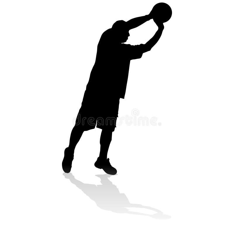 Download Vektorschattenbild Eines Mannes Vektor Abbildung - Illustration von junge, ballon: 47100682