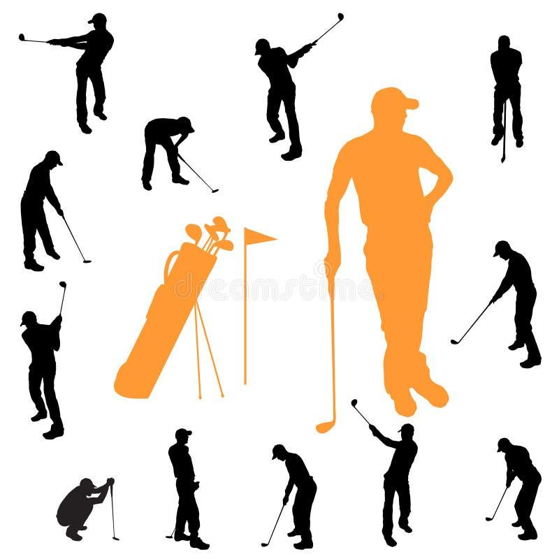 Download Vektorschattenbild Eines Mannes Vektor Abbildung - Illustration von golf, gruppe: 47100742