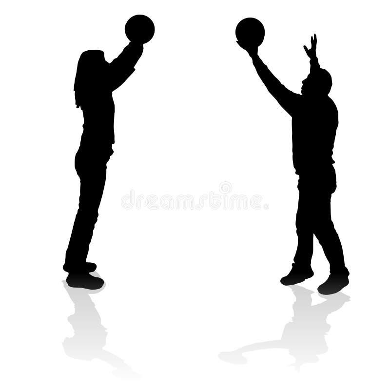 Download Vektorschattenbild Eines Mannes Vektor Abbildung - Illustration von volleyball, lebensstil: 47100865
