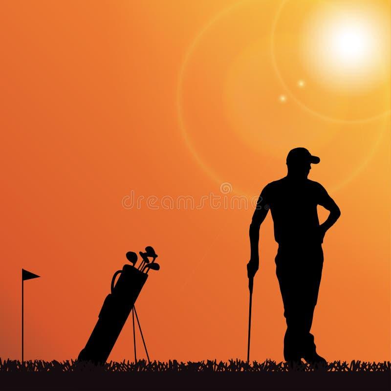 Download Vektorschattenbild Eines Mannes Vektor Abbildung - Illustration von golf, karosserie: 47101063