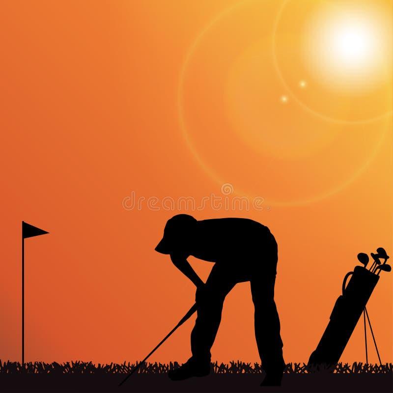 Download Vektorschattenbild Eines Mannes Vektor Abbildung - Illustration von leute, golf: 47101069