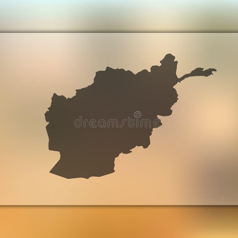 Vektorschattenbild von Afghanistan-Karte Unscharfer Hintergrund lizenzfreie abbildung