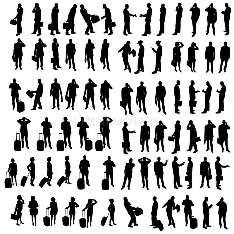 Download Vektorschattenbild Von Geschäftsleuten Vektor Abbildung - Illustration von geschäftsfrau, koffer: 47100630
