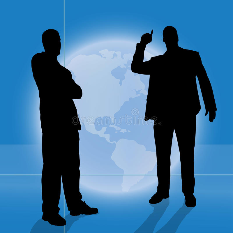 Vektorschattenbild von Geschäftsleuten vektor abbildung