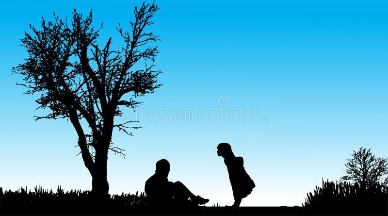 Download Vektorschattenbild Von Kindern Vektor Abbildung - Illustration von kinder, draußen: 47101222