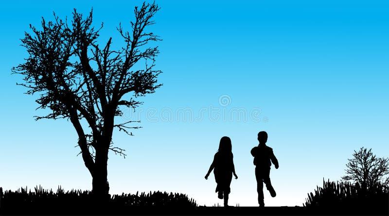 Download Vektorschattenbild Von Kindern Vektor Abbildung - Illustration von lebensstil, kind: 47101237