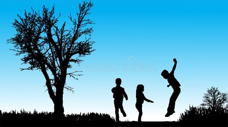 Download Vektorschattenbild Von Kindern Vektor Abbildung - Illustration von outdoor, junge: 47101257