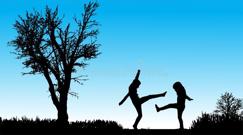 Download Vektorschattenbild Von Kindern Vektor Abbildung - Illustration von lebensstil, nett: 47101411