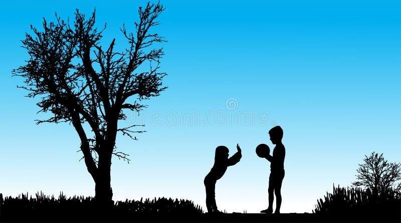 Download Vektorschattenbild Von Kindern Vektor Abbildung - Illustration von frau, pfad: 47101463