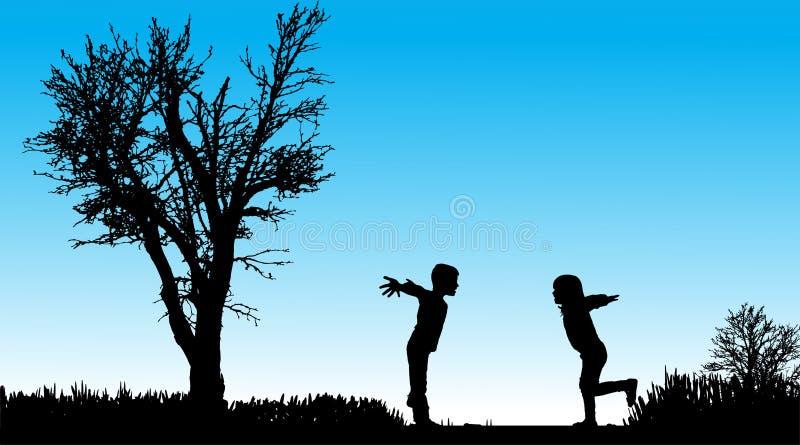 Download Vektorschattenbild Von Kindern Vektor Abbildung - Illustration von vortraining, nett: 47101495
