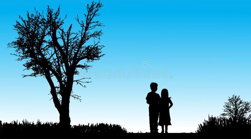 Download Vektorschattenbild Von Kindern Vektor Abbildung - Illustration von pfad, vortraining: 47101556