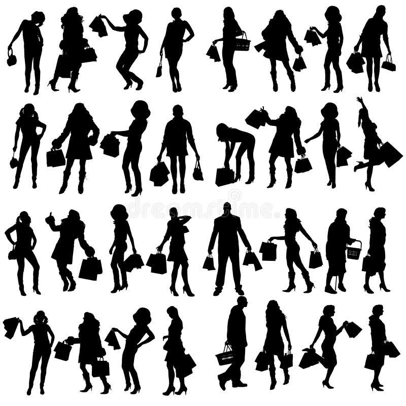 Download Vektorschattenbild Von Leuten Vektor Abbildung - Illustration von lustig, auslegung: 47100711