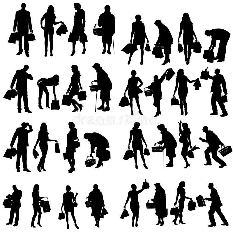 Download Vektorschattenbild Von Leuten Vektor Abbildung - Illustration von erwerb, einkaufen: 47100744