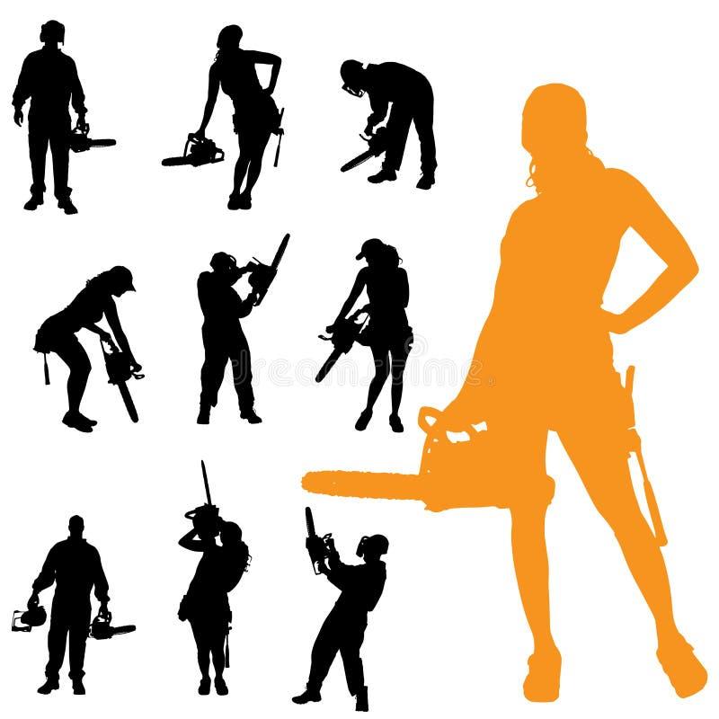 Download Vektorschattenbild Von Leuten Vektor Abbildung - Illustration von sturzhelm, ingenieur: 47100858
