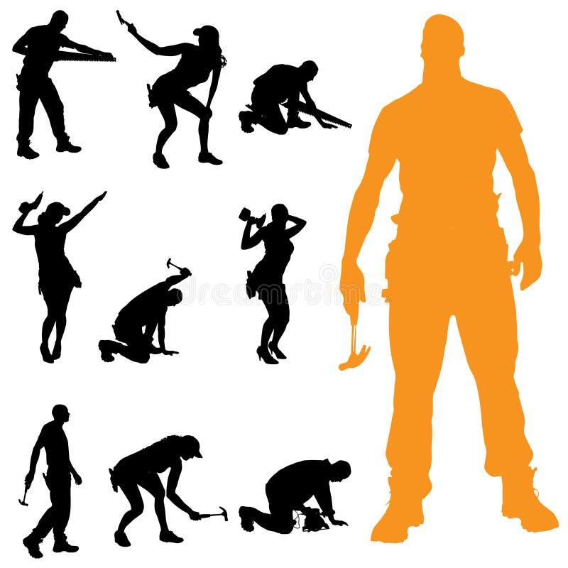 Download Vektorschattenbild Von Leuten Vektor Abbildung - Illustration von mann, ingenieur: 47100868