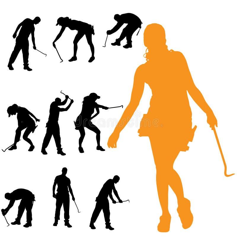 Download Vektorschattenbild Von Leuten Vektor Abbildung - Illustration von frau, recht: 47100871
