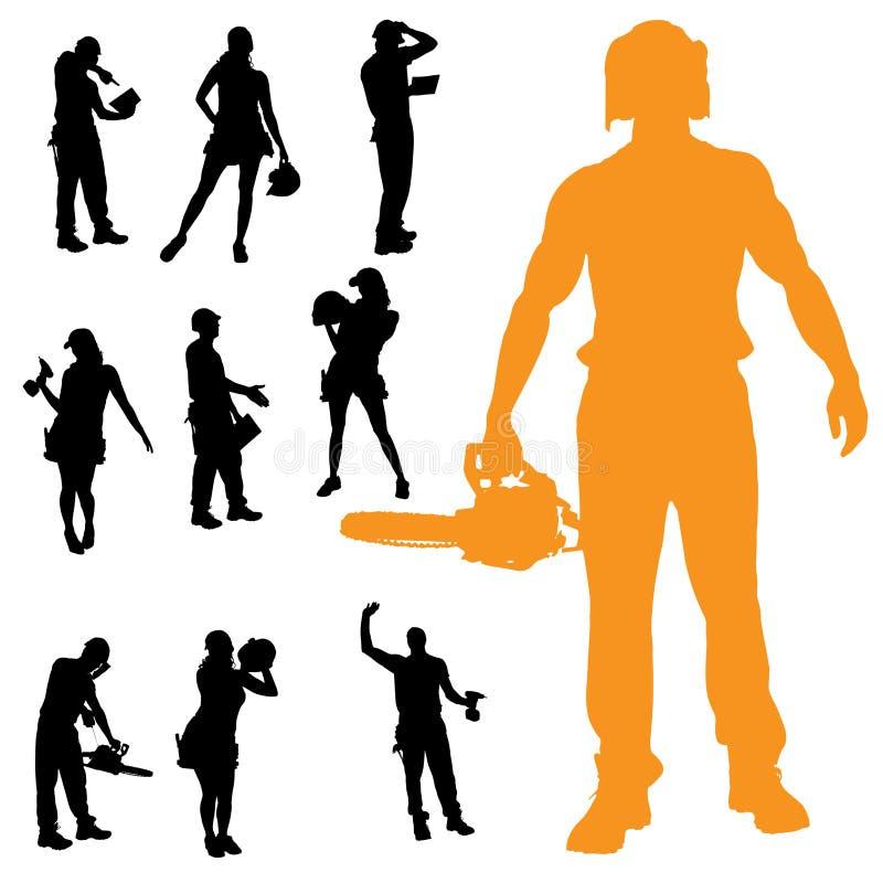 Download Vektorschattenbild Von Leuten Vektor Abbildung - Illustration von leute, bohrgerät: 47100873