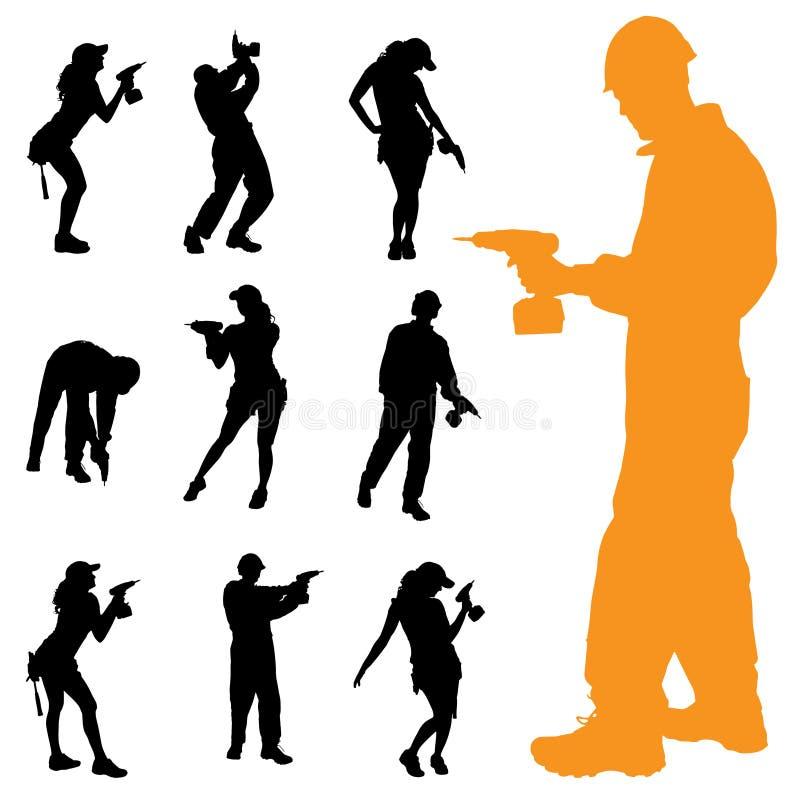 Download Vektorschattenbild Von Leuten Vektor Abbildung - Illustration von leute, abbildung: 47100899